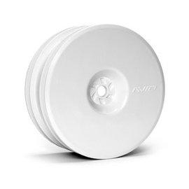 Avid RC AV1103-W  Satellite Front Wheel (B6, RB6) | 12mm Hex | White Pair