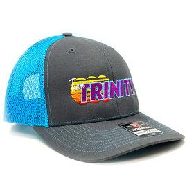 Trinity TEP1979  Teal Trinity Trucker Style Hat 40th Anv. Logo