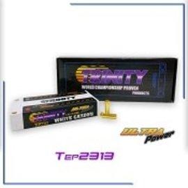 Trinity TEP2313  Trinity 1S 3.7V 8000mAh 130C HV LiPo Shorty w/ 5mm Bullets