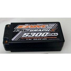 Team EA Motorsports EAM53130-2  Team EAM 2S 7.4v 5300mAh 130C Shorty LiPo w/ 5mm Bullets