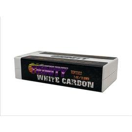 Trinity TEP2322  White Carbon 2S 7.4v 4300mAh 130c Shorty LiPo w/ 5mm Bullets