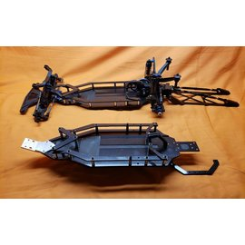 Trap OMB Design OMB1004A & OMB1503 OMB Design Tarp B6/DC6.1/B6.2 Mid Motor Chassis Kit w/Pro Adust Wheelie Bar