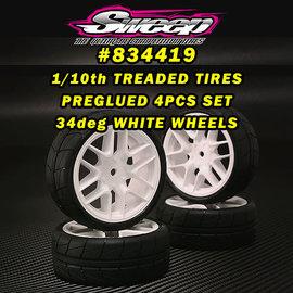 SWEEP SWP834419  GT10/FWD Treaded Belted Tires 34deg White Rim (4)