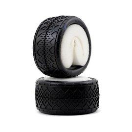 J Concepts JCO3033-01 Bar Codes V2 Rear 1/10 2.2 Buggy Tires Blue - JConcepts