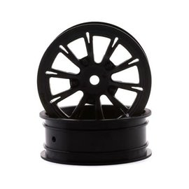 """Drag Race Concepts DRC-215  AXIS 2.2"""" Drag Racing Front Wheels w/12mm Hex (Black) (2)"""