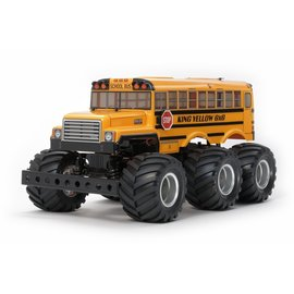Tamiya TAM47376  1/18 King Yellow 6x6 G6-01 4WD Monster Truck Kit w/Pre-Painted Body