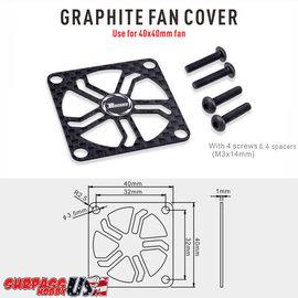 Surpass Hobby USA SP-420003-21 Rocket 40mm Graphite Fan Cover for Aluminum Fans
