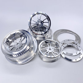 "Reefs SEHREEFS89  KURL Beadlock Aluminum 2.2/3.0"" Drag Wheels (4pcs) w Rings and Hardware"