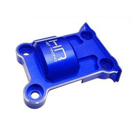 HOT RACING HRAXMX13M06  Blue Aluminum Upper Rear Gear Box Cover: X-Maxx