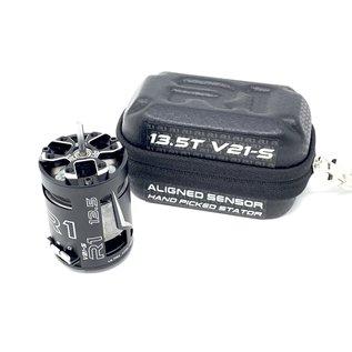 R1wurks R1  020076-3  R1 13.5T V21-S Brushless Motor Aligned Sensor + Hand Picked Stator ROAR
