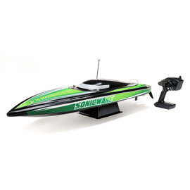 "Proboat PRB08032T2  White / Green Sonicwake 36"" Self Righting Brushless Deep-V RTR"