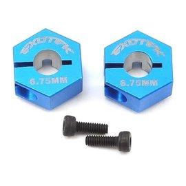 Exotek Racing EXO1692BLU  6.75mm Blue Aluminum 12mm Hex (2)