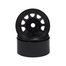 """SSD SSD00280  SSD RC Stock 1.9"""" Steel Beadlock Wheels (Black)"""