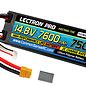 Lectron Pro 4S7600-75X  Lectron Pro 4S 14.8v 7600mAh 50C LiPo Battery w/ TX