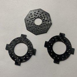 Nooner RC NRC-VTS  Carbon Fiber Slipper Pads  for B6 - B6.3  DR10  B5 Revolution Design VTS Slipper Kit