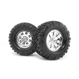 HPI HPI4726  Mounted Super Mudders Tire, 155X85mm, (2pcs), Savage