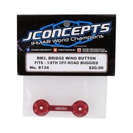J Concepts JCO8134  JConcepts Aluminum RM2 Bridge Wing Button (Red)