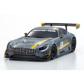 Kyosho KYOMZP241GY  Grey / Yellow Mercedes AMG GT3 Presentation Car Bodyfor Mini-Z MR-03 VE