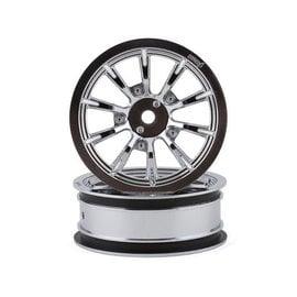 "Drag Race Concepts DRC-217  DragRace Concepts AXIS 2.2"" Drag Racing Front Wheels w/12mm Hex (Chrome) (2)"