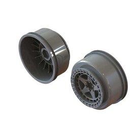 """Arrma ARA510126  SC 2.2""""/3.0"""" Wheel 14mm Hex Gun Metal (2)"""