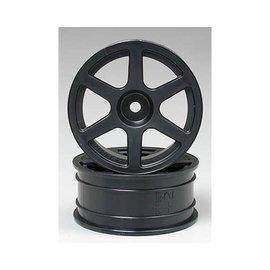 Tamiya TAM53453  Tamiya 6-Spoke Wheel Medium Narrow (Grey) (2) (24mm)