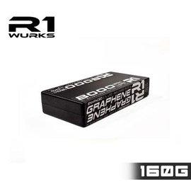 R1wurks R1030008-2  R1 1S 3.7v 8000mAh 120C LiPo Shorty w/ 5mm Bullets Enh Graphene