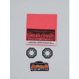 Undercover RC UCR4000  UCDrag  CarbonFiber Vented Slipper Pads - Octolock Associated