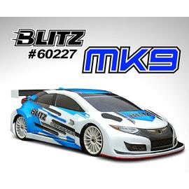 BLITZ BLZ60227-07  MK9 1/10 190mm Hatchback Body Shell .7mm FWD