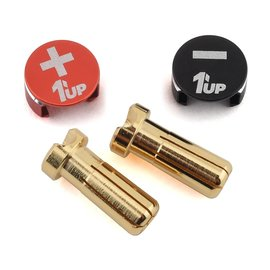 1UP Racing 1UP190432  5mm Black & Red LowPro Bullet Plugs & Grips