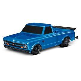 Traxxas TRA94076-4  Blue Drag Slash Brushless Drag Chevy C-10 Truck
