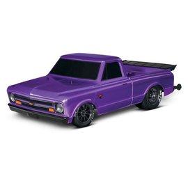 Traxxas TRA94076-4  Purple Drag Slash Brushless Drag Chevy C-10 Truck
