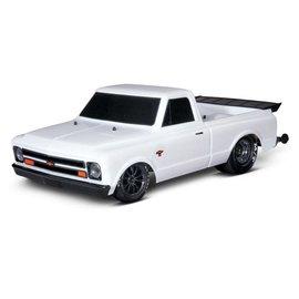 Traxxas TRA94076-4  White Drag Slash Brushless Drag Chevy C-10 Truck