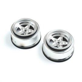 TLR / Team Losi LOS43048  Losi Rear Wheel, Satin Chrome (2): 22S Drag