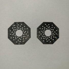 Nooner RC NRC-V2  Carbon Fiber Slipper Pads for Kimbrough / Older Style Associated  Gears (2)