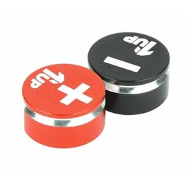 1UP Racing 1UP190430  1UP Racing - LowPro Bullet Plug Grips - Black/Red
