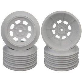 DE Racing DERDS4FW  DE Racing Speedway SC Short Course Dirt Oval Wheels (White) (4) (19mm Backspace) (Slash Front) w/12mm Hex