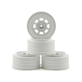DE Racing DERDS4RW  DE Racing Speedway Short Course Wheels (White) (4) (21.5mm Backspace) (Slash Rear) w/12mm Hex