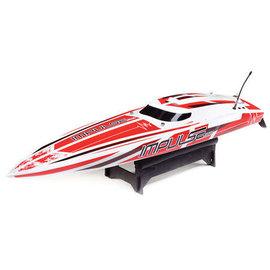 "Proboat PRB08037T2  Impulse 32 Boat"" Brushless Deep-V RTR with Smart, White/Red"