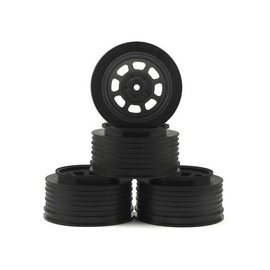 DE Racing DERDS4AB  DE Racing Speedway SC Dirt Oval Wheels (Black) (4) (+3mm Offset/29mm Backspace) (SC10/SC5M) w/12mm Hex