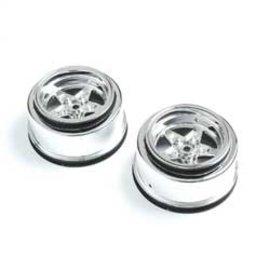 TLR / Team Losi LOS43046  Losi Rear Wheel, Chrome (2): 22S Drag