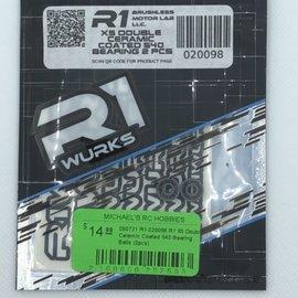 R1wurks R1-020098  R1 X5 Double Ceramic Coated 540 Bearing Balls (2pcs)