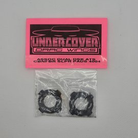 Undercover RC UCR4004  UCDrag  CarbonFiber Vented Directional Slipper Pads - AE Dual Disc VTS