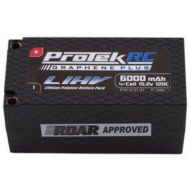 Protek RC PTK-5131-21  ProTek 4S 15.2v 6000mAh 120C HV Shorty LiPo w/ 5mm Bullets