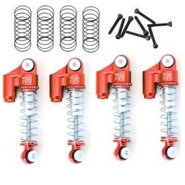 Power Hobby PHBPHSCX2401RED  Red Alunibum Threaded Mini Shocks: SCX24