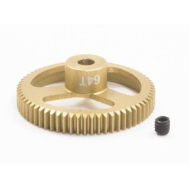 Trinity TEP6464  64P 64T FeatherWeight Pinion Gear w/ 3.17mm Bore