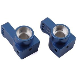 STRC SPTSTC91418-T1B  Blues ST Racing CNC Machined Aluminum Rear Hub Carriers 1 deg. Toe-in (1 pair) for Associated DR10