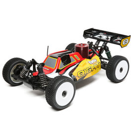 TLR / Team Losi LOS04010V2  Red/Yellow Losi 8IGHT Nitro 1/8 4WD RTR Buggy w/SLT 2.4GHz Radio