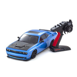 Kyosho KYO34415T2B  Blue Dodge SRT Challenger Hellcat MK2 FZ02L Fazer RTR