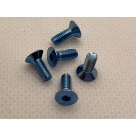 Michaels RC Hobbies Products MRCHW-FHCSM3x8BLUE  M3 x 8mm Blue Steel Flat Head Countersunk (5)