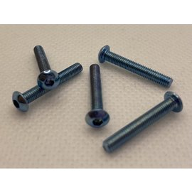 Michaels RC Hobbies Products MRCHW-BHM3x20BLUE  M3 x 20mm Blue Steel Button Head (5)
